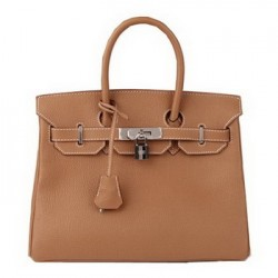 Hermes birkin original camel leather tote bag
