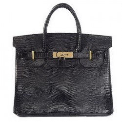 black lizard hermes birkin leather tote bag