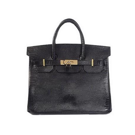 black lizard hermes birkin leather tote bag