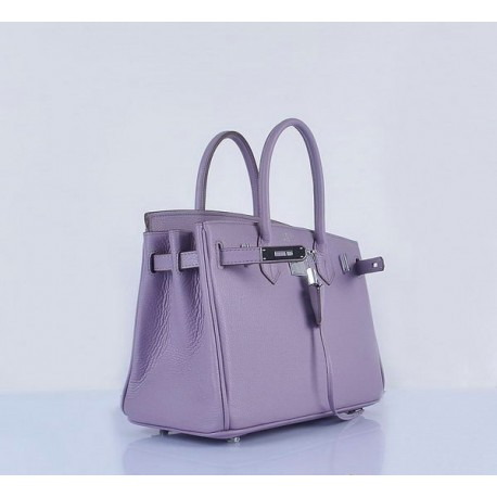 4418c637d1d8 Hermes Birkin light lavender grainy leather tote bag