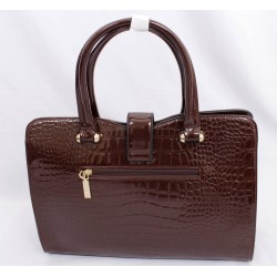 Ladies dark brown wetlook bags in kenya